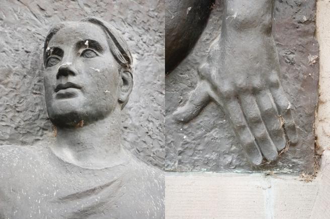 """Details aus dem Bronzerelief """"Novemberrevolution in Deutschland"""" von Gerhard Rommel"""